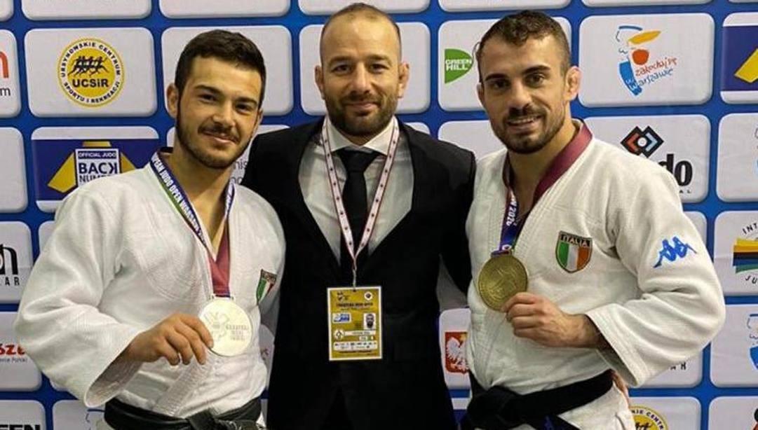 Da sinistra, Biagio D'Angelo, Elio Verde (coach) e Carmine Di Loreto