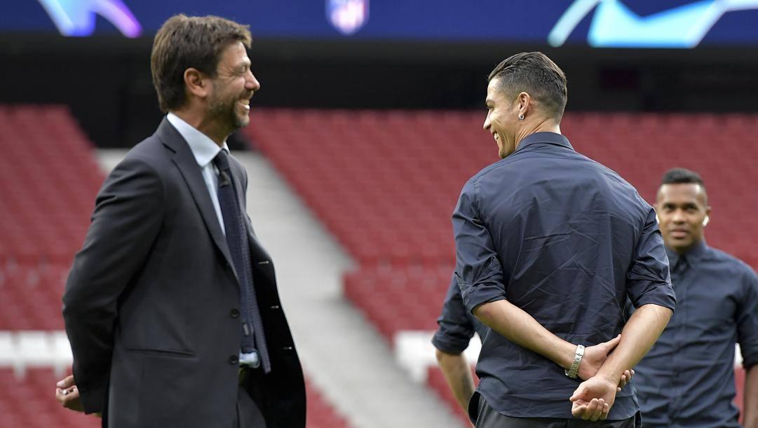 Andrea Agnelli, 44 anni, e Cristiano Ronaldo, 35. Getty