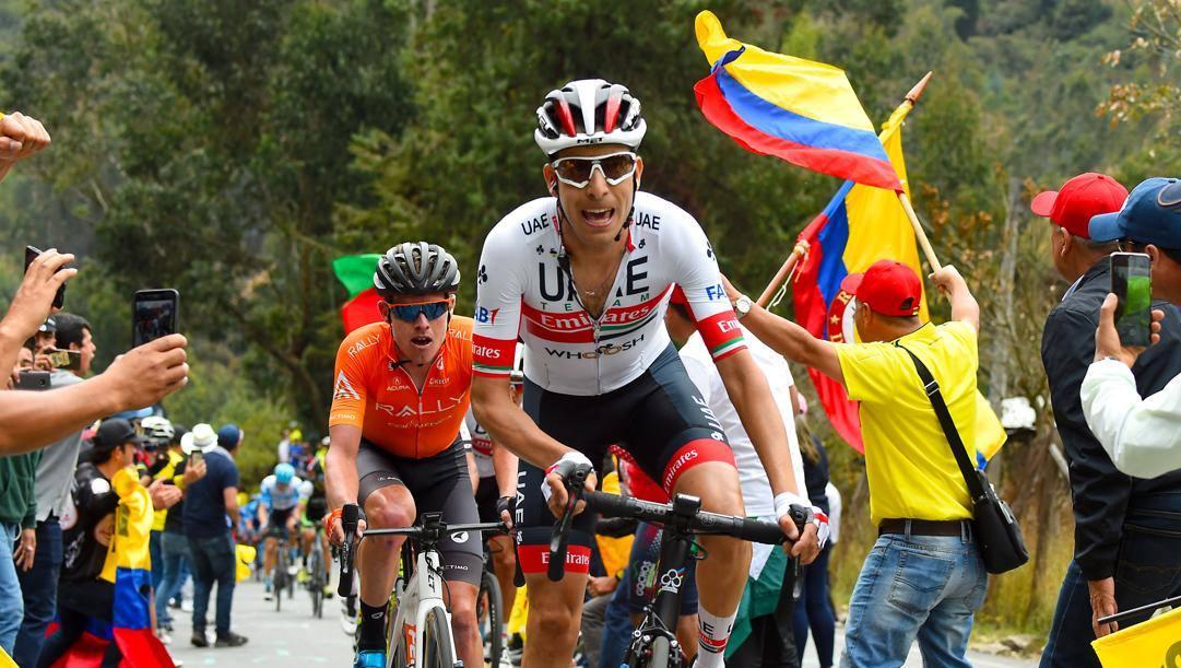 Fabio Aru, 29 anni, in azione alla Vuelta Colombia. Bettini