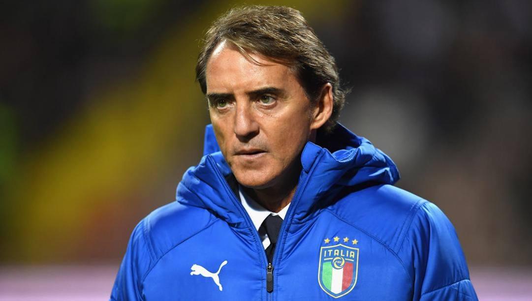 Il c.t. azzurro Roberto Mancini. Getty
