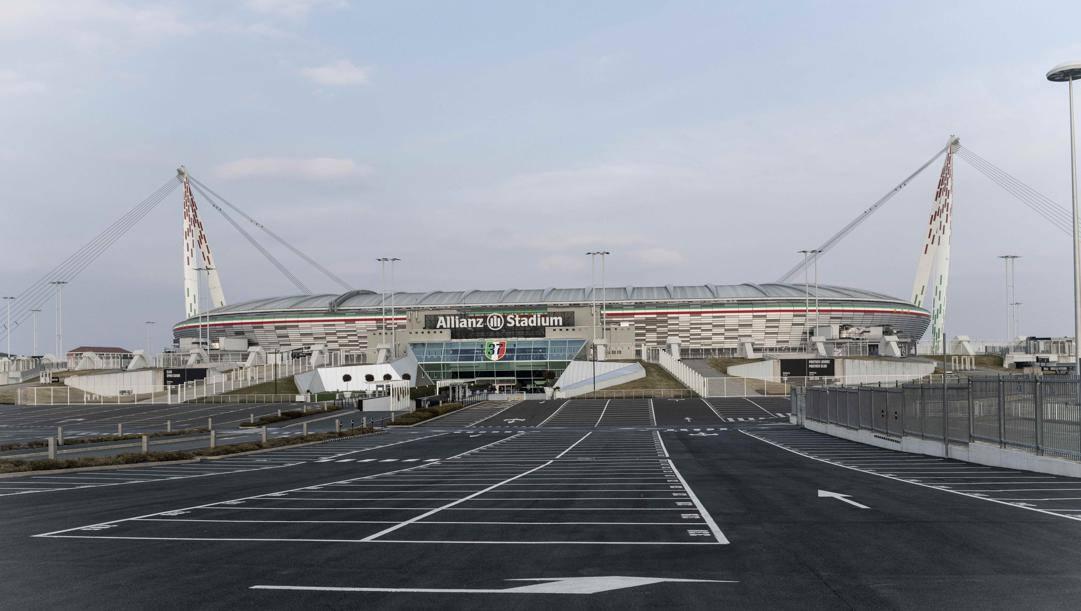 L'esterno dell'Allianz Stadium: qui gioca la Juve. LaPresse