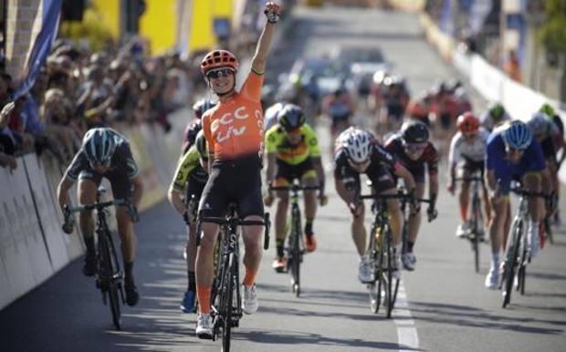 La vittoria dell'olandese Marianne Vos al Trofeo Binda 2019. Bettini