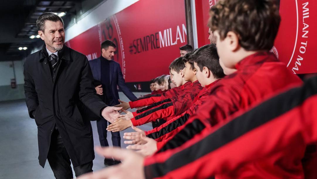 Zvone Boban e, alle spalle, Paolo Maldini. LaPresse