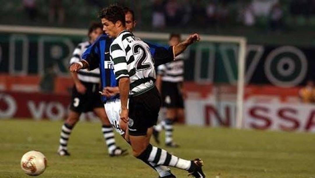 Cristiano Ronaldo contro Luigi Di Biagio.
