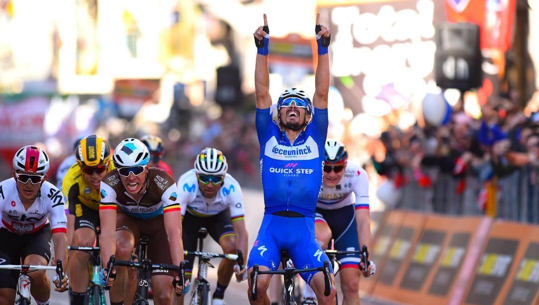 Julian Alaphilippe ha vinto la Milano-Sanremo 2019. Ansa