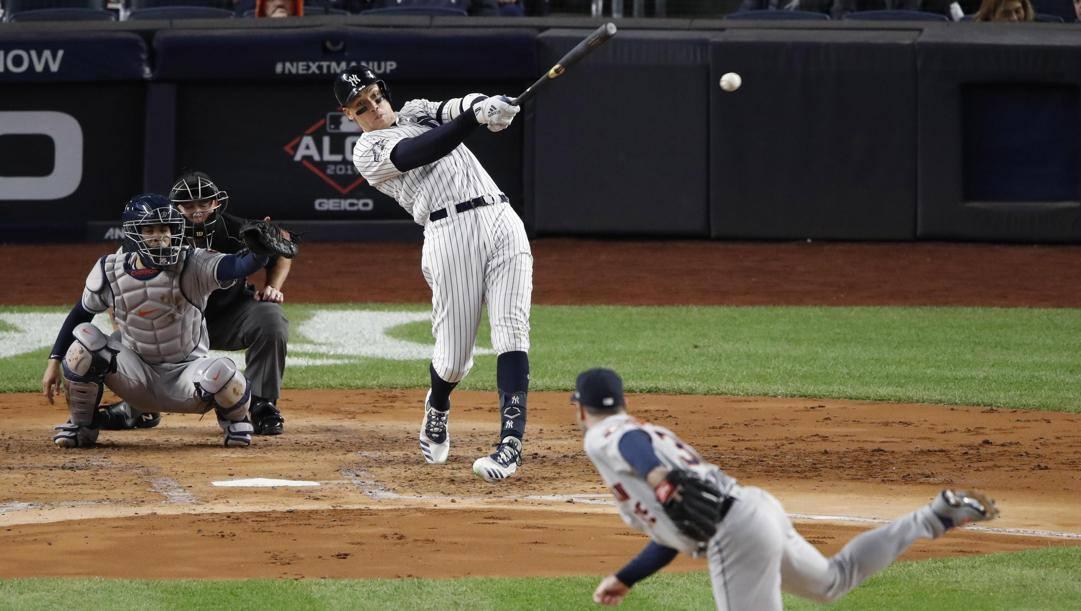 Aaron Judge, 27 anni, esterno destro degli Yankees, alla battuta. Epa