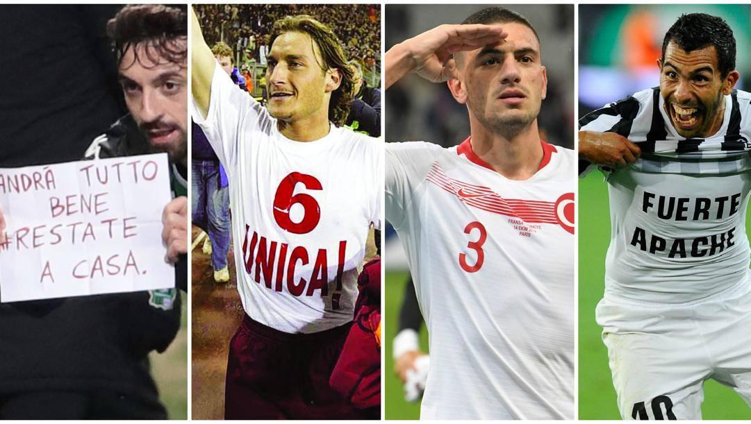 Caputo, Totti, Demiral e Tevez.
