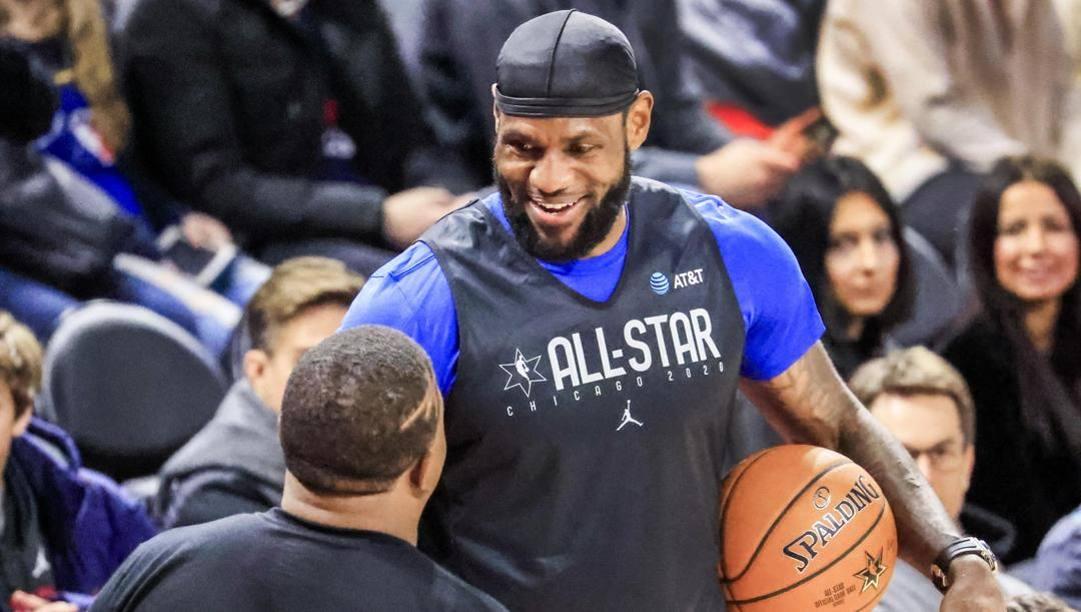 LeBron James, 35 anni, il più popolare giocatore Nba. Epa