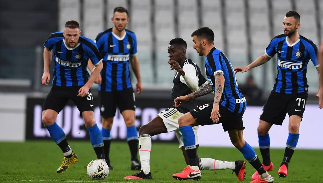 Juventus-Inter nello stadio vuoto. Getty