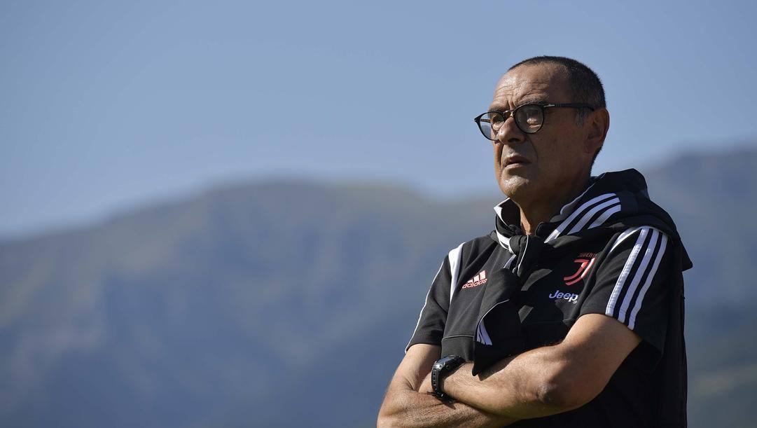 Maurizio Sarri a metà agosto, nell'amichevole a Villar Perosa. Getty