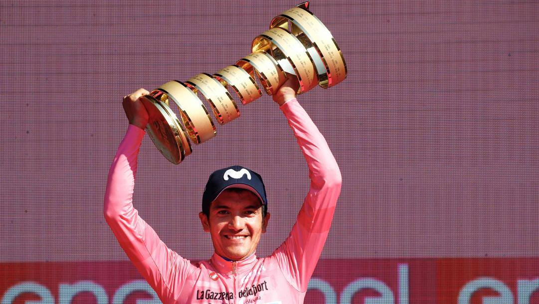 Richard Carapaz, 26, vincitore del Giro 2019. Afp