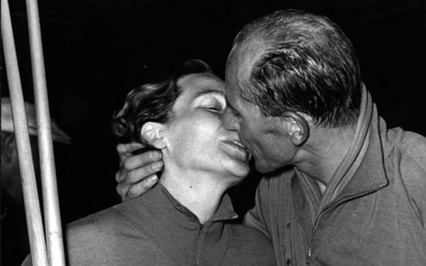 Dana Zatopkova e Emil Zatopek nel 1954