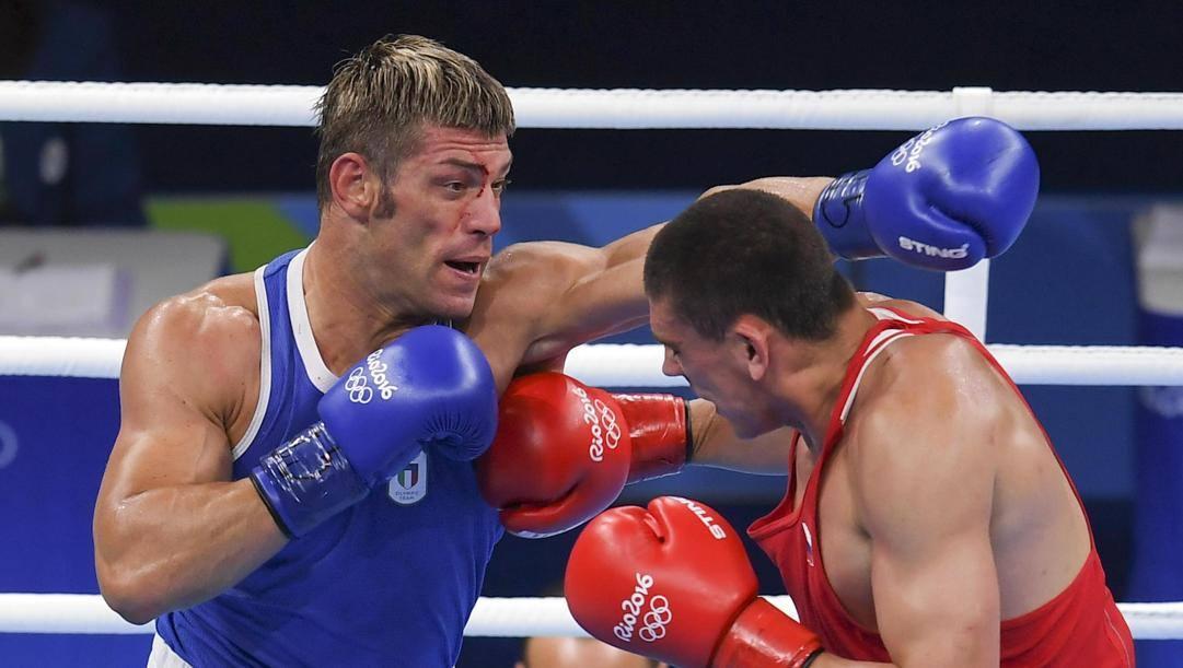 Clemente Russo sul ring di Rio 2016. Ansa