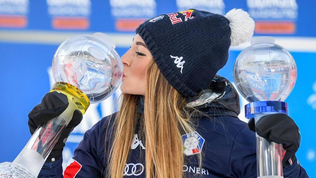Dorothea Wierer, campionessa del mondo di biathlon 2020. Epa