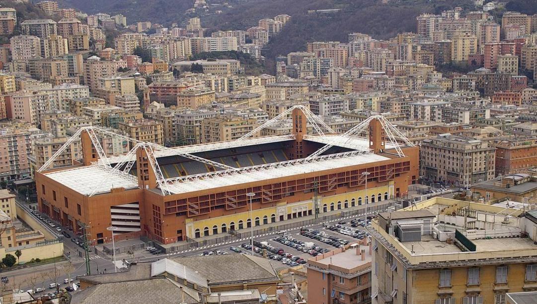 Una veduta dello stadio Ferraris di Genova