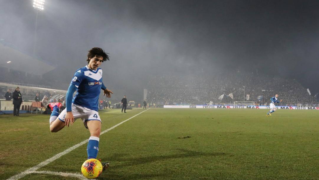 Sandro Tonali, 19 anni, centrocampista del Brescia. Ansa