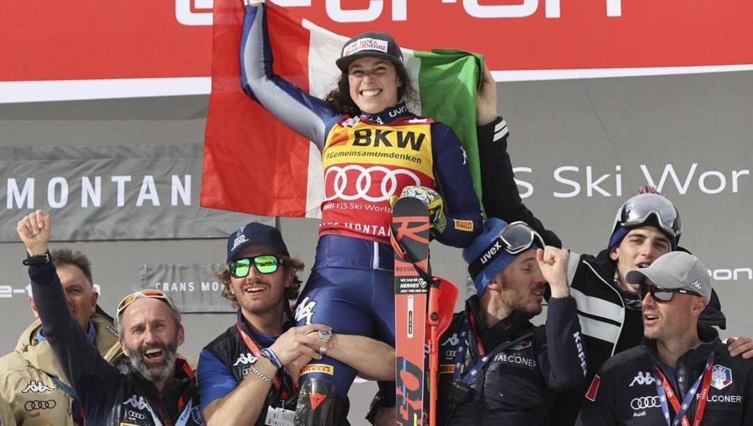 Federica Brignone, campionessa del mondo di sci alpino. Ap