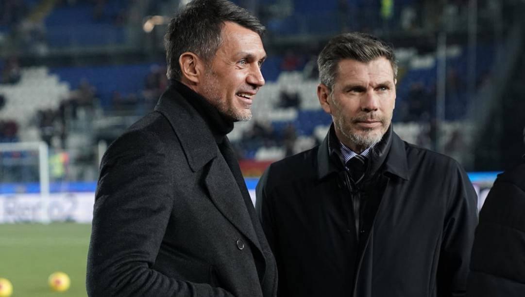 Paolo Maldini e Zvone Boban. (lapresse)