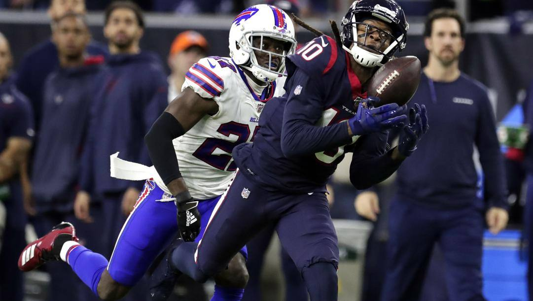 DeAndre Hopkins, 27 anni, qui in maglia Texans contro i Bills. Ap