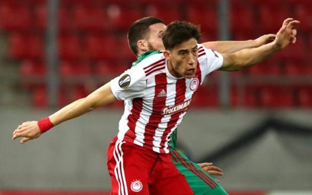 Kostas Tsimikas, 24 anni, esterno sinistro dell'Olympiacos . Getty
