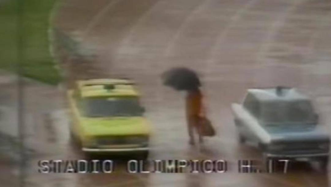 Volanti della Polizia all'Olimpico di Roma.