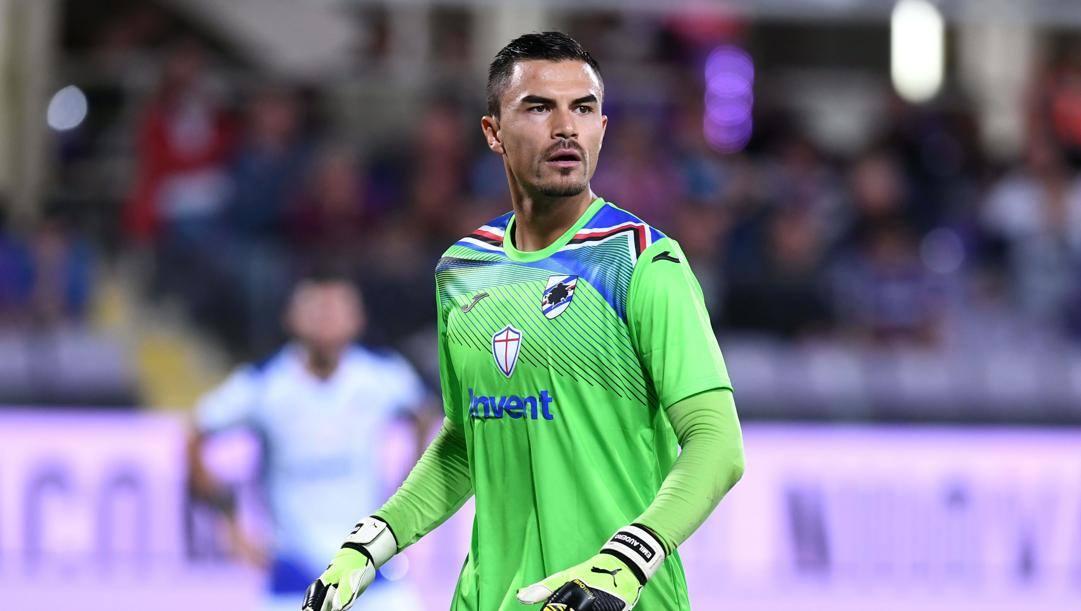 Emil Audero, portiere della Sampdoria. Lapresse