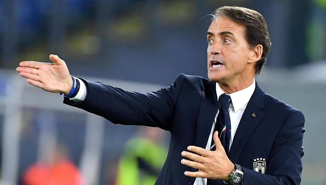 Il c.t. della Nazionale azzurra Roberto Mancini, 55 anni. (Ansa)