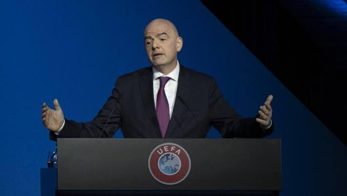Gianni Infantino, presidente della Fifa. Lapresse