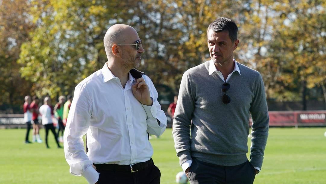 Ivan Gazidis e Paolo Maldini. LaPresse