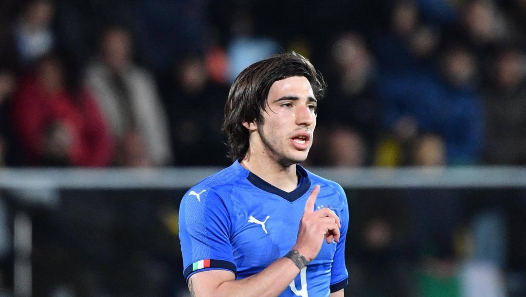 Sandro Tonali ha già esordito in Nazionale nel 2019. Lapresse