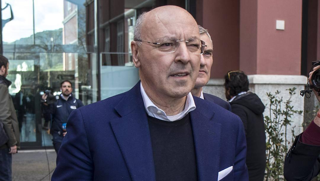 Giuseppe Marotta, 62 anni, a.d. area sportiva dell'Inter. Lapresse