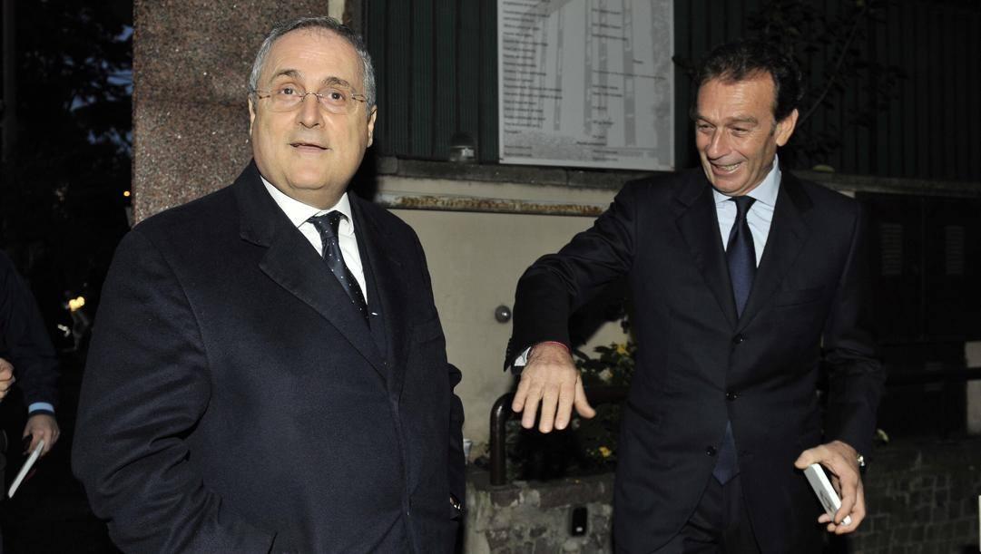 Claudio Lotito e Massimo Cellino. Aldo Liverani