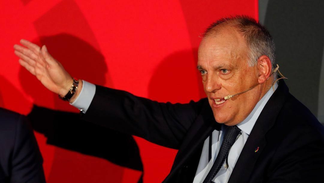 Javier Tebas, presidente della Liga. Epa