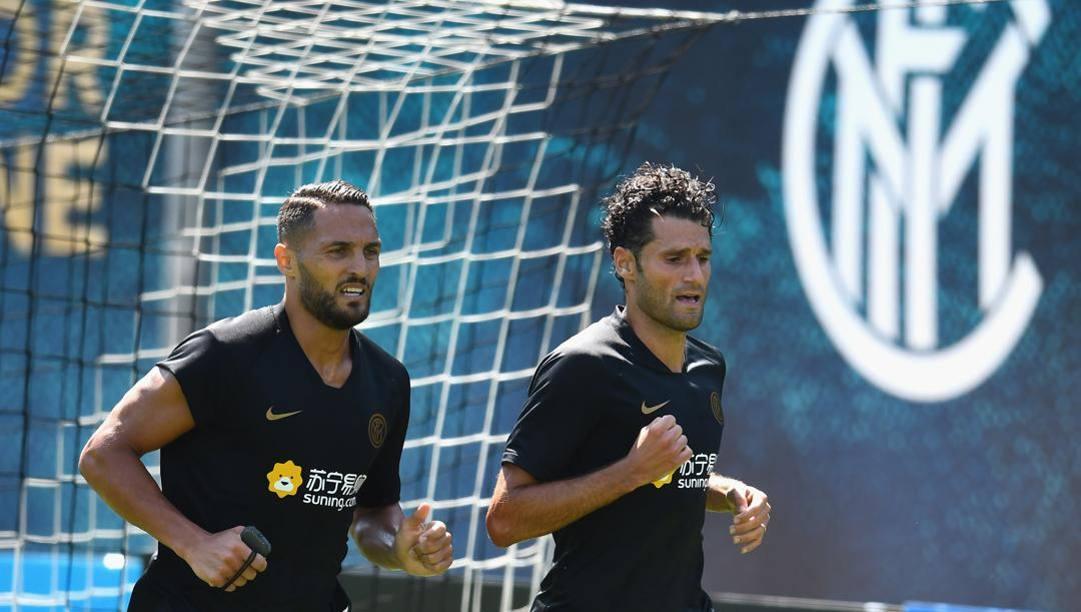Danilo D'Ambrosio, 31 anni, e Antonio Candreva, 33. Getty