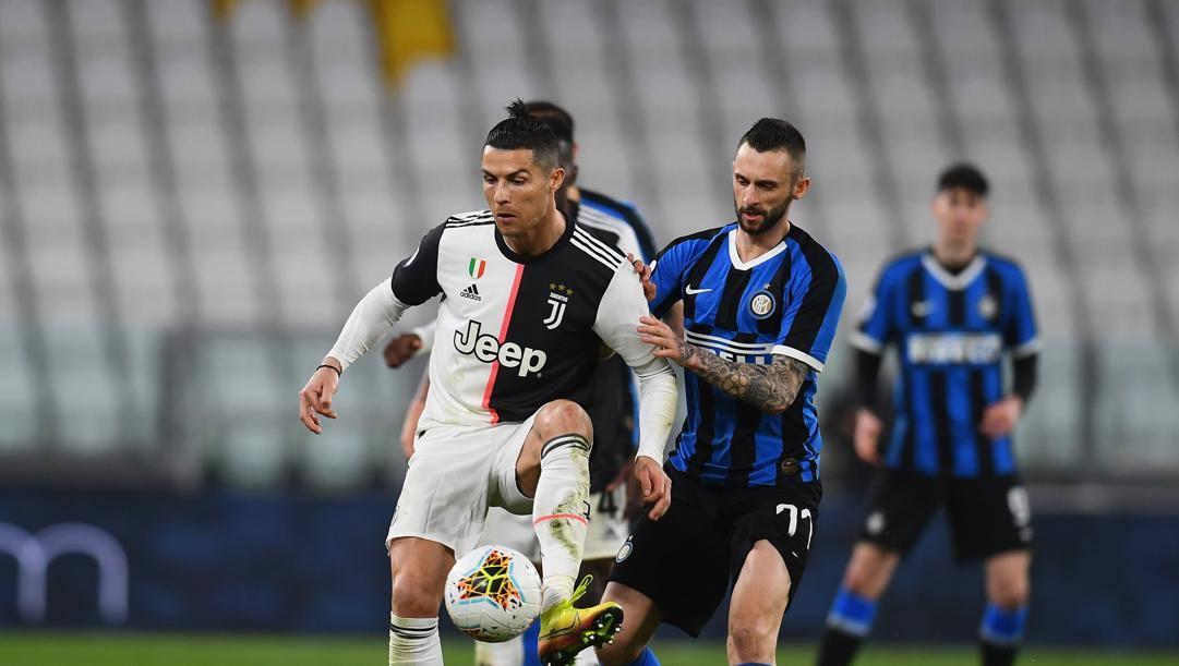 Ronaldo e Brozovic nel recente Juve-Inter. Getty