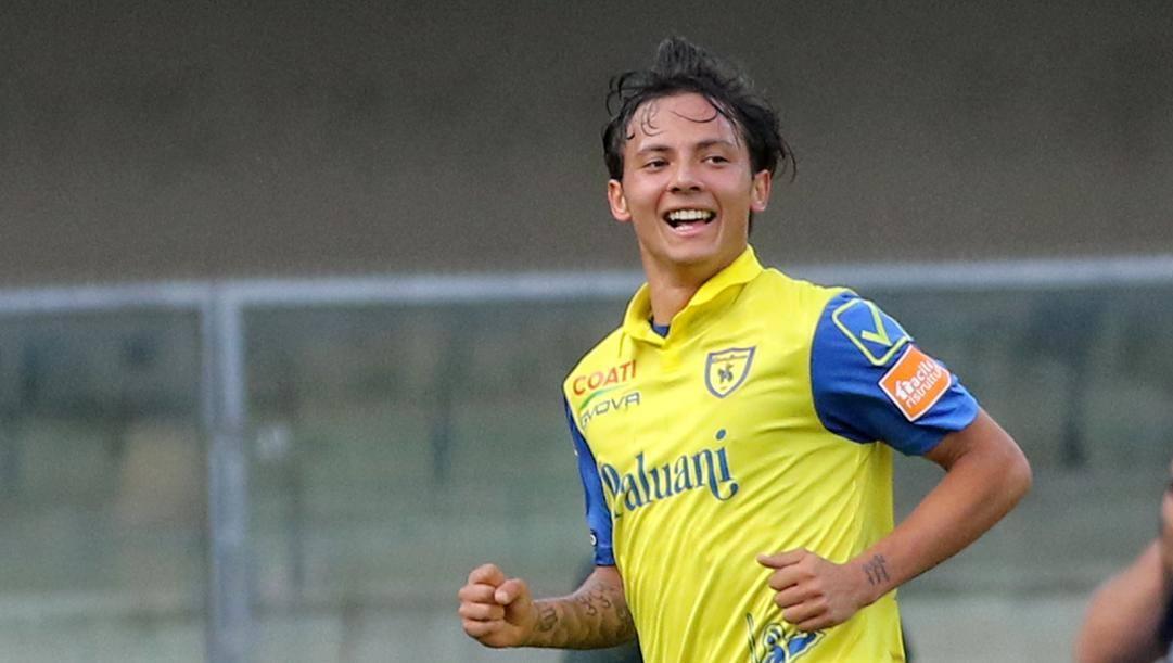 Emanuel Vignato, 19 anni, trequartista del Chiwevo, in prestito dal Bologna. LaPresse