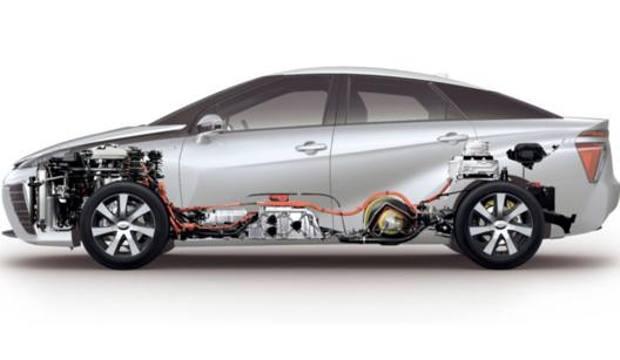 La Mirai, auto a idrogeno di Toyota