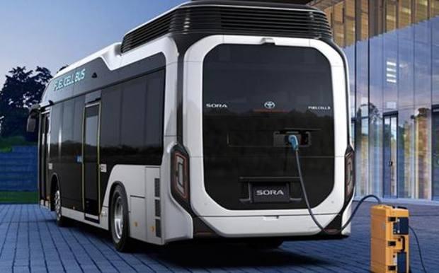 Il bus a idrogeno Sora, prodotto da Toyota per il mercato giapponese