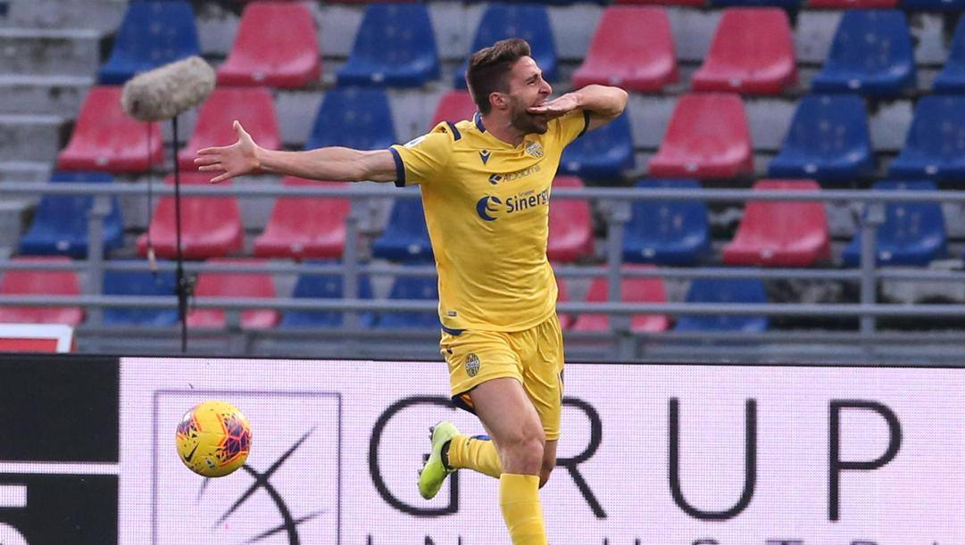 Fabio Borini è arrivato al Verona nel mercato di gennaio. Ansa