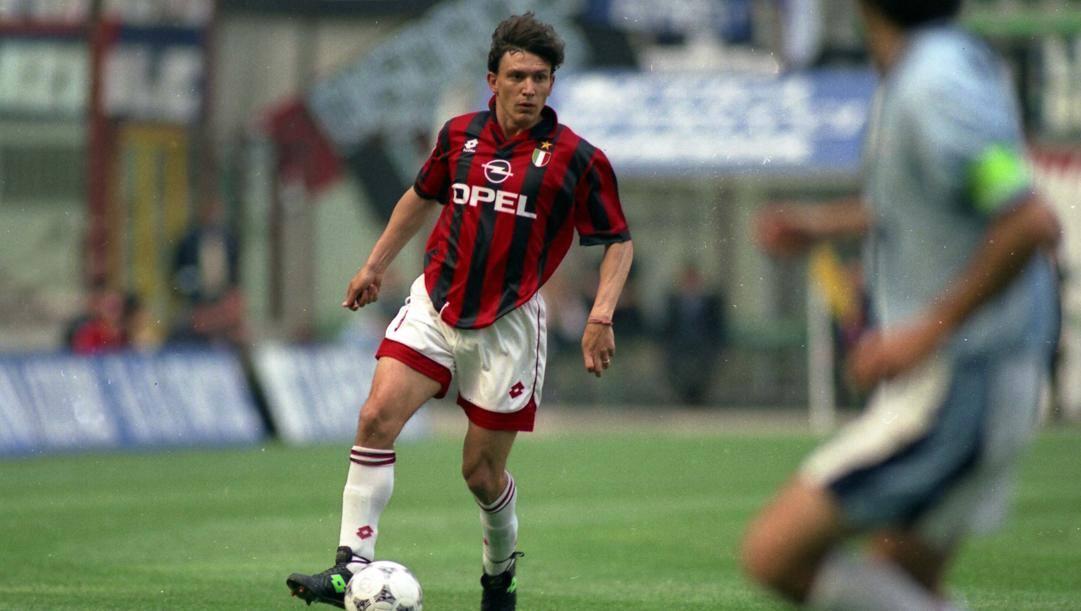 Stefano Eranio, al Milan dal 1992 al 1997. Aldo Liverani