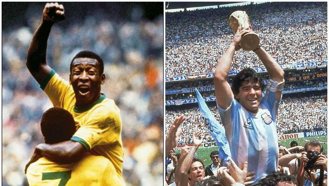 Pelé e Maradona, i più grandi di sempre.