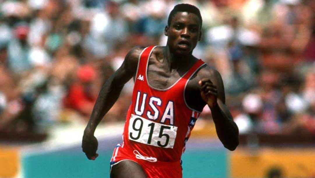 Carl Lewis ai Giochi di Los Angeles 1984.