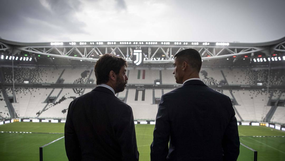 Andrea Agnelli e Cristiano Ronaldo. Getty