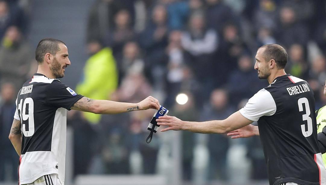 Leonardo Bonucci e Giorgio Chiellini. Getty