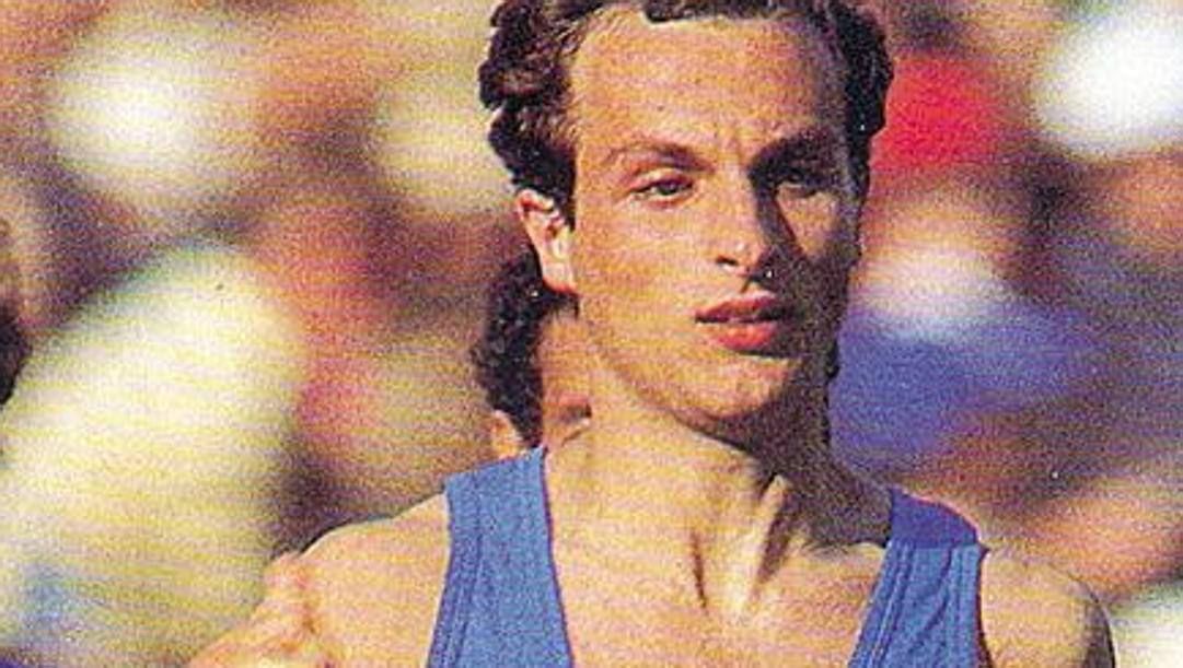 Donato Sabia, classe '63, nella finale olimpica degli 800 a Los Angeles '84