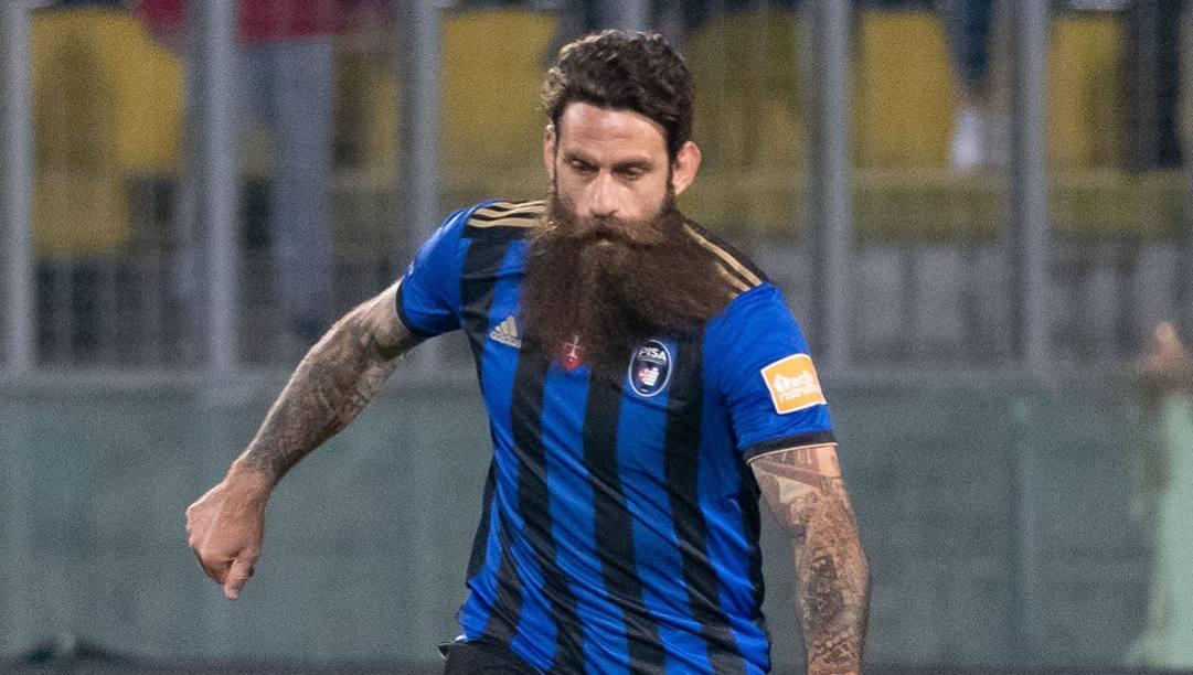 Davide Moscardelli, 40 anni, seconda stagione nel Pisa: ha segnato 12 gol in 41 partite. (Ipp)