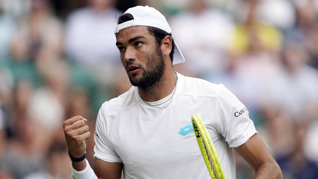 Matteo Berrettini a Wimbledon.