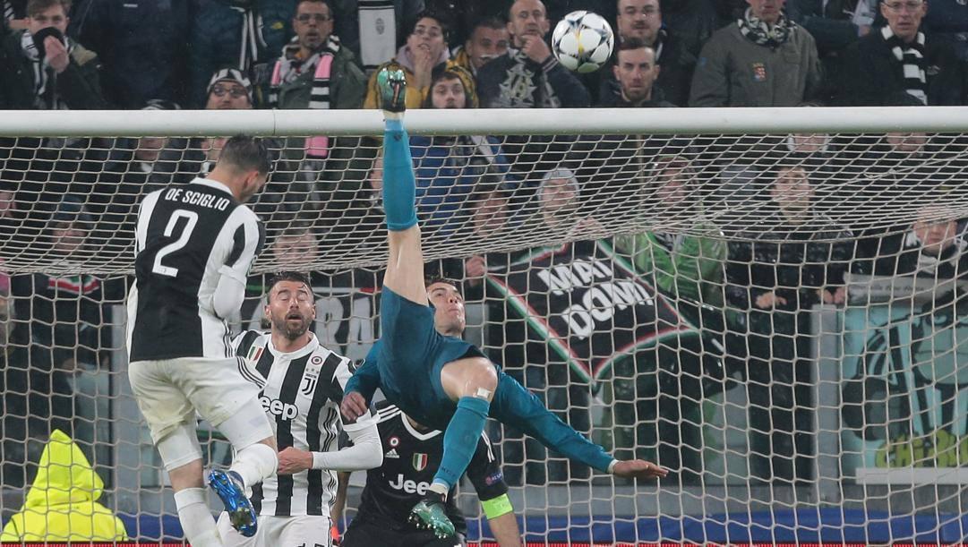 La rovesciata di Cristiano Ronaldo. Getty