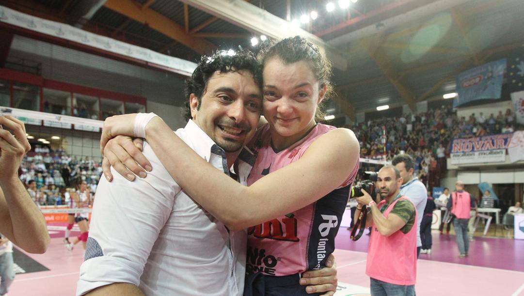 Serena Ortolani insieme al ct Davide Mazzanti. Daniela Tarantini
