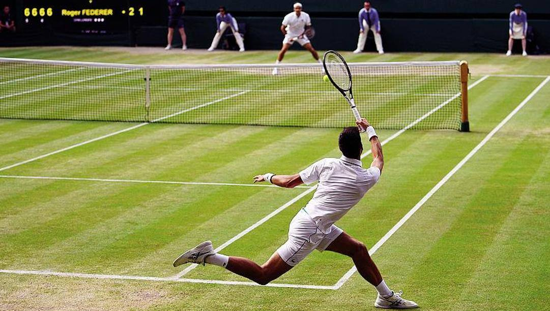 La finale dell'anno scorso tra Djokovic e Federer. Afp
